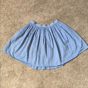 American Apparelblue chambray mini skater skirt, M